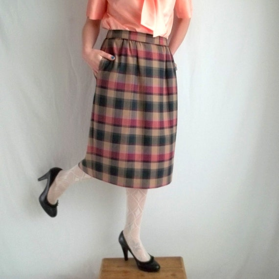 Pretty Plaid Skirt with Pockets