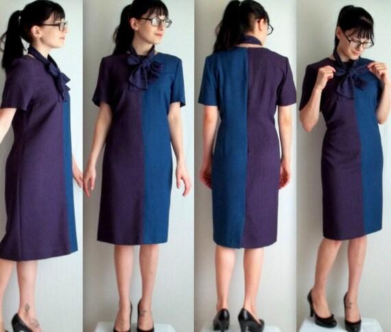 Blue & Purple Sceretary Dress