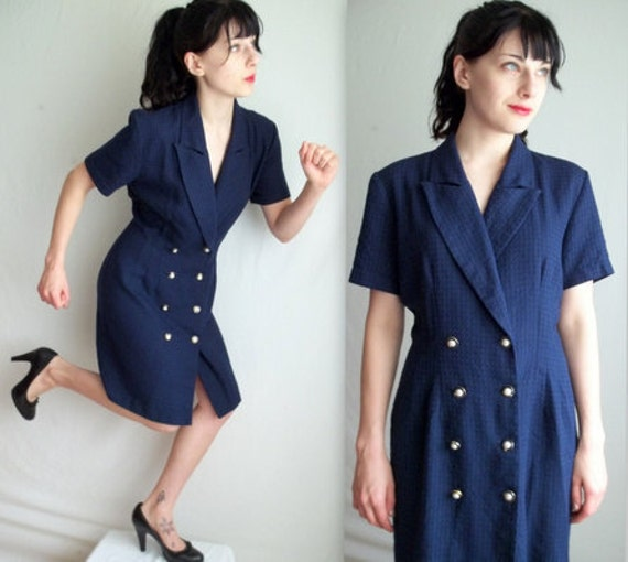 Dark Blue Secretary Dress