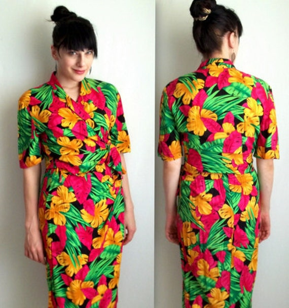 Tropical Two Piece Top & Skirt