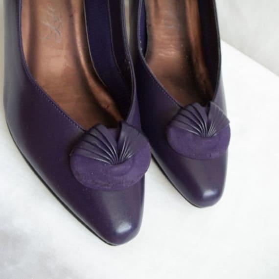 Purple Kitten Heels