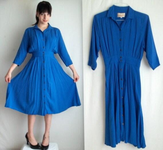 Bold Blue Day Dress