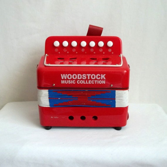 Red White & Blue Woodstock Music Collection Accordion