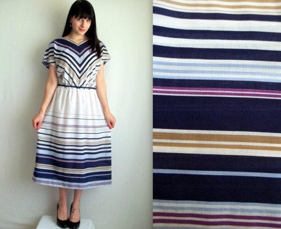 Purple & White Day Dress
