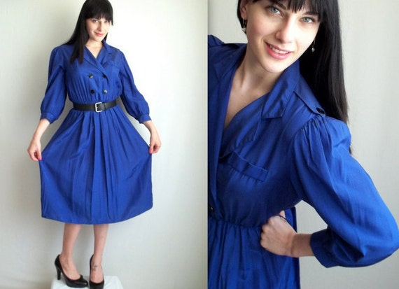 Royal Blue Secretary Dress