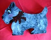 Children's wooden scottie dog puzzle