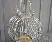 Reserved for Granceandplenty Shabby  Bird Cage wire Romantic Chic tables cape victorian Wedding chippy shabby creamy white round