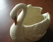 Holland Mold Swan Planter - Marked