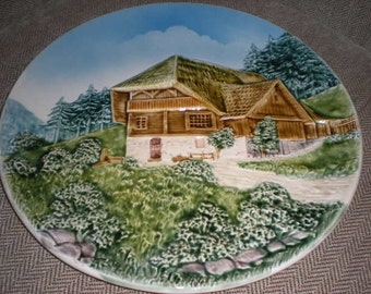 Majolica Wall Hanging Platter Made in West Germany