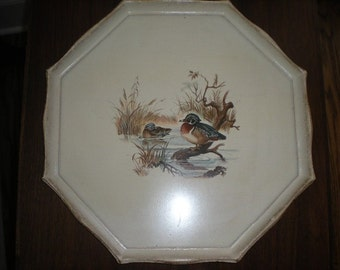 White Tray with Ducks - Made in Italy