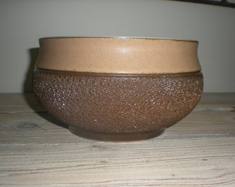 Brown Cotswold Design Denby Pottery Bowl Planter -  Made in England
