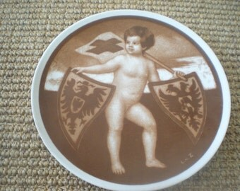 Rosenthal Red Cross Baby Plate
