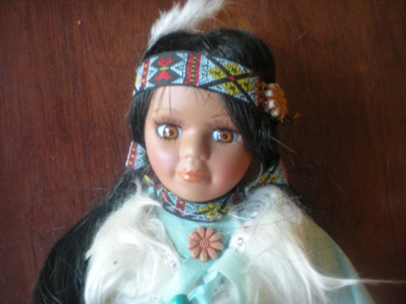 Cathay Collection 5000 Porcelain Native American Doll