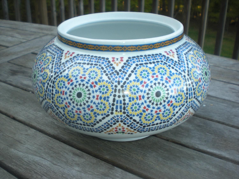 Cocema Fes Maroc Art China Planter Vase