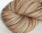 Sock yarn Tabby Cat hand dyed superwash merino / nylon sock / fingering weight yarn