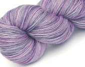 Sock yarn bfl silk cash Lavender Mist hand dyed 70/20/10 superwash blue faced leicester / silk / cashmere sock / fingering weight yarn