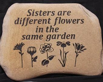 Hand Engraved Rock - Custom Garden Stones