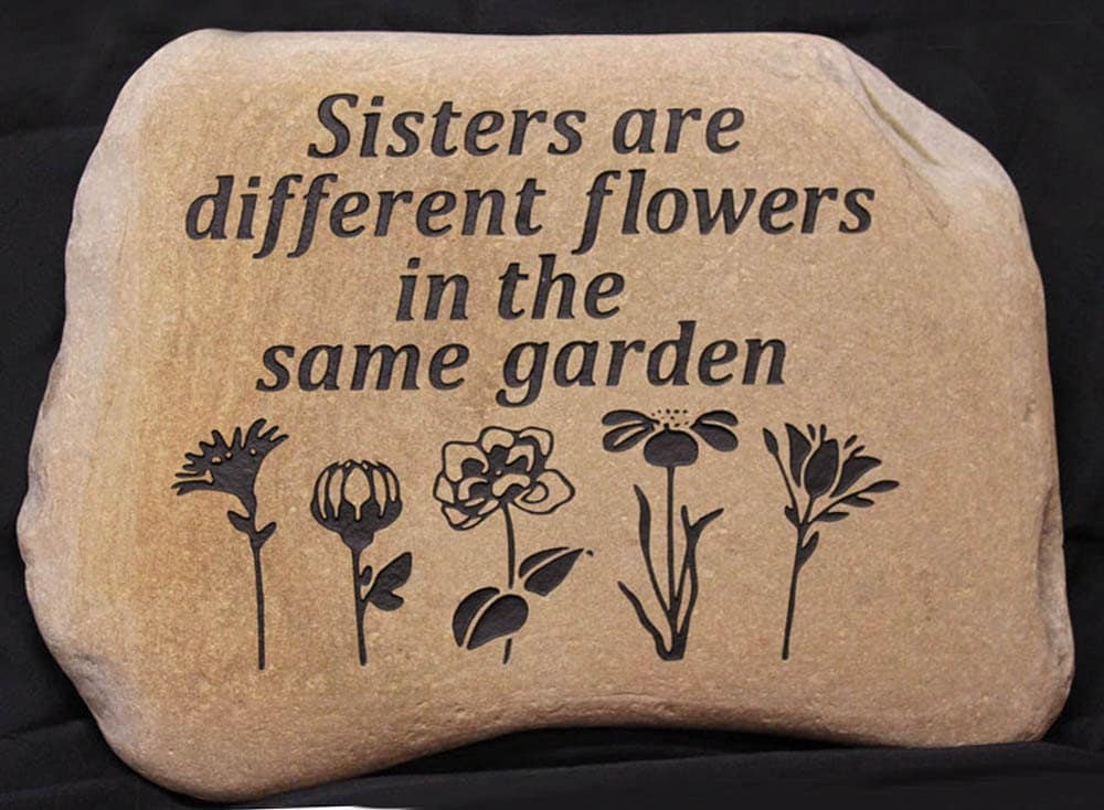 Landscape Rock With Engraving : Hand engraved rock custom garden stones