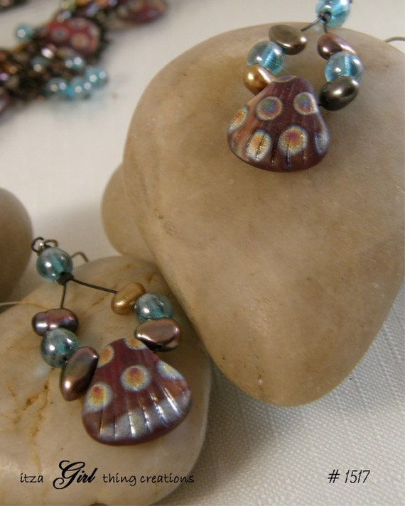 Peacock Earrings with Free Shipping (Item 1517 E)
