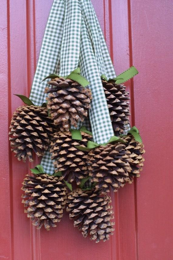 PineCone Cluster/Wreath -Nature Winter Decor-