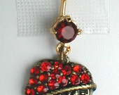 """Unique Belly Ring - Betsey Johnson Rhinestone Heart with """"LOVE"""" Pendant On A Belly Ring"""