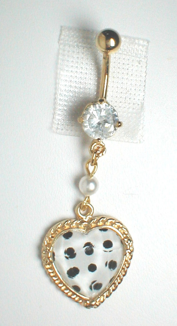 unique belly ring trendy polka dot