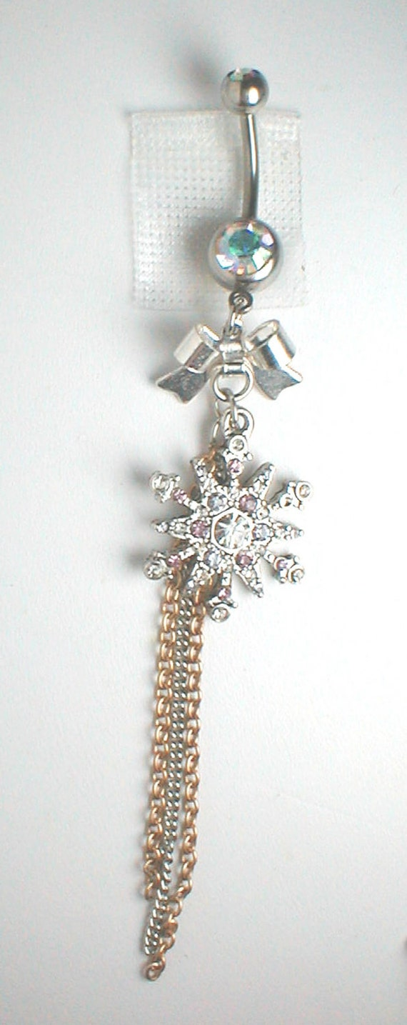 Unique Belly Ring - Trendy Snow Flower