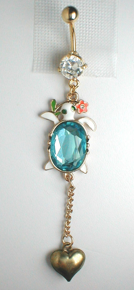 Unique Belly Ring Trendy Turtle By Pondgazer2004 On Etsy
