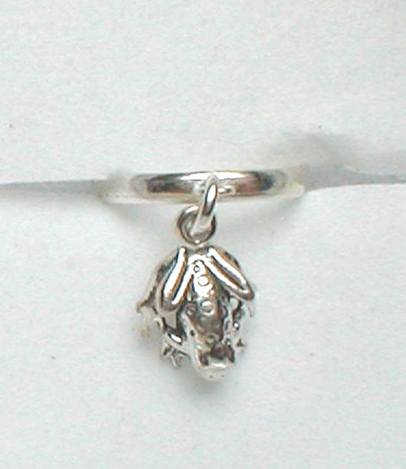 Toe Ring - Sterling Silver Adjustable Band and Frog