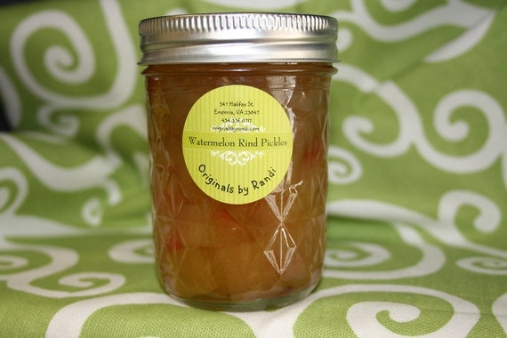 Homemade Sweet Watermelon Rind Pickles 8 ounce jar