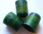 3 Green Votive Candles, Herb and Citrus Scent - Mylana