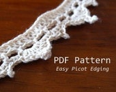PDF Crochet Pattern Beginner Picot Edging
