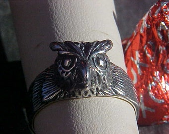 OWL TOTEM Ring KAM Design in Sterling Silver
