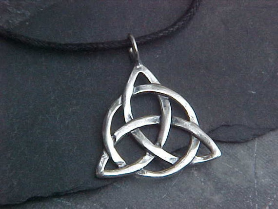 Celtic Knot TRIQUETRA Pendant KAM Copyrighted Custom Design In Sterling Silver medium size
