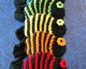 Weekend Sale - Set of 6 Fish Dish Scrubbies in Rainbow Colors - Red, Orange, Yellow, Green, Blue & Purple