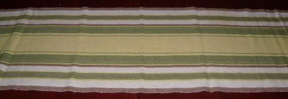 "Vintage runner  Stripe design on woven Flax linen Sweden  15x49"""