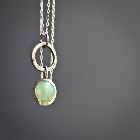 Green Umba Sapphire Pendent.