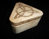 OOAK Triskele Wooden Box