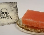 SALE Blood Orange Sorbet Soap with Mandarin