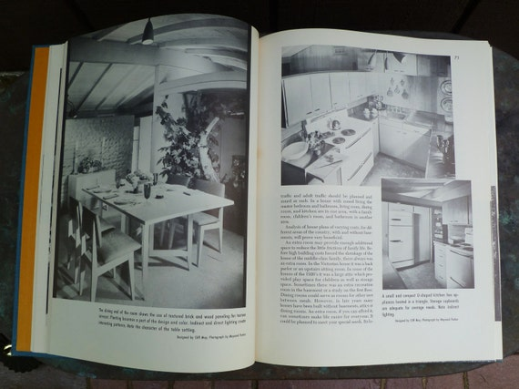 Art and Design in Home Living. Mid Century Modern Decor. Vintage Book 1960s. Frances Obst. Many Cool Photos.
