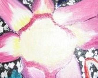 Purple Flower Acrylic Painting