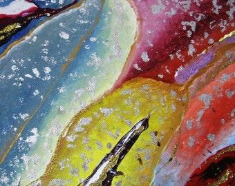 Flower Petals Original Acrylic Painting