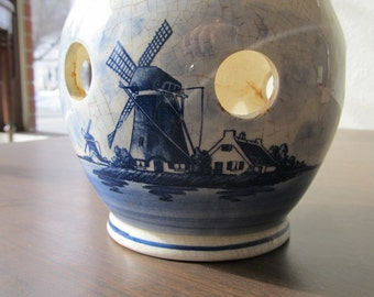 Vintage Blue Delft Planter