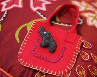 SALE Elephant Pocket Pal and Carry Bag Eco Felt