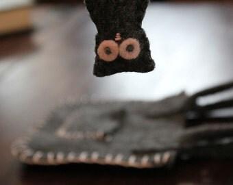SALE Owl Pocket Pal and Carry Bag Eco Felt