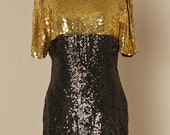 80s Vintage Dress / Sequin Party Dress / New Years Eve Dress