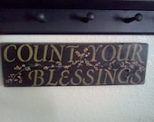 Count your Blessings hand painted sign