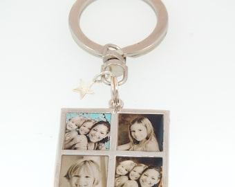 Family 4 Photo Key Chain