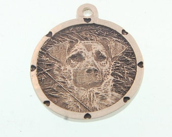 Pet Engraved Photo Charm In Silver.