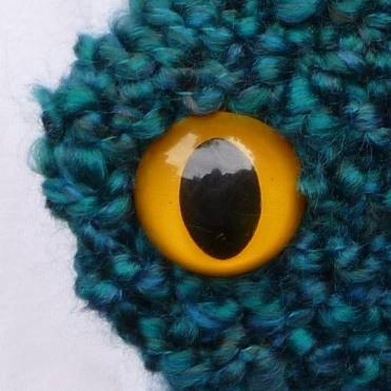 Knit Dragon Scarf - Teal with Purple Spikes
